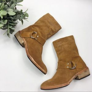 NWOB Free People venna Western suede harness